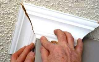 Как сделать внешний угол потолочного плинтуса разными способами