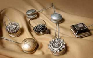 Виды и дизайн магнитов для штор