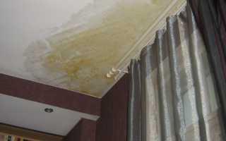 Как отбелить желтые пятна на потолке, если соседи затопили квартиру