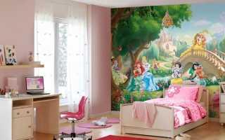 Выбираем фотообои в детскую комнату для девочек