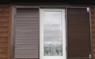 Металлические ставни на окна для дачи