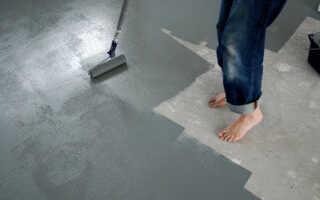 Правильная покраска бетонного пола собственноручно