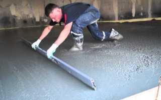 Какой марки бетон нужен для пола в гараже и как его залить