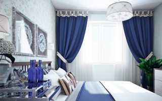 Синие шторы; 50 фото изысканных оттенков синего цвета в интерьере