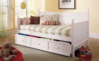 Классические и оригинальные детские кровати с ящиками, критерии выбора