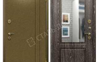Входные металлические двери с зеркалом внутри
