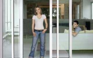Современные раздвижные пластиковые двери