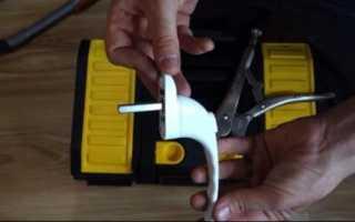 Как установить и отрегулировать ручку пластикового окна