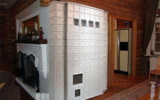 Керамическая плитка для облицовки печей: особенности выбора и укладки