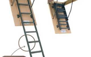 Лестница складная на чердак: виды характеристики