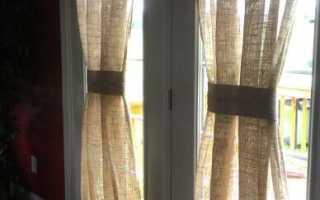 Шторы и занавески из мешковины в интерьере