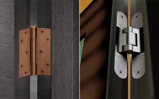 Петли для двери – как подобрать