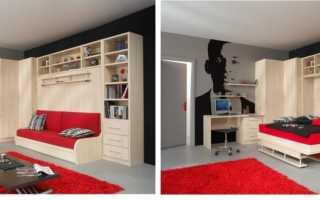 30 интерьеров детских комнат с откидными кроватями