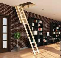 Чердачная лестница с люком своими руками