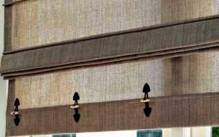 Как крепить римские шторы на стену или пластиковое окно