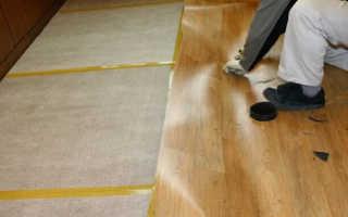 Укладка под линолеум фанеры на деревянный и бетонный пол
