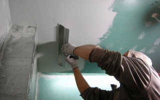 Тонкости шпаклевки потолка