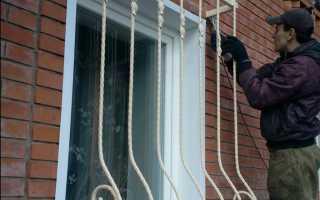Установка металлических решёток на окна своими руками