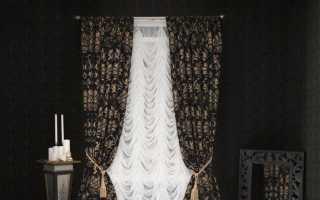 Черные шторы в интерьере: грамотно расставляем акценты