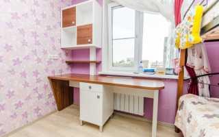 24 примера размещения стола вдоль окна в детской