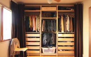 Варианты штор вместо двери в гардеробную и шкаф