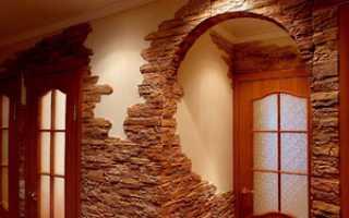 Применение облицовочного камня для внутренней отделки в интерьере