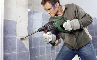 Как снять плитку в ванной со стены