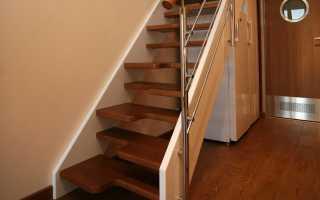 Лестница утиный шаг на второй этаж: чертеж, размеры