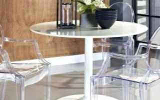 Пластиковые столы в современном интерьере