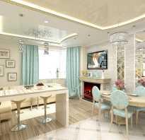 Оригинальный дизайн кухни-гостиной площадью 20 квадратных метров