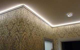 Делаем светодиодную подсветку потолка под плинтусом