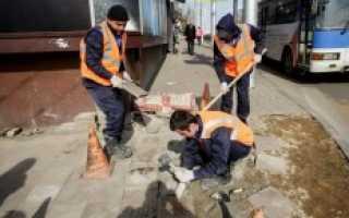 Замена и ремонт тротуарной плитки