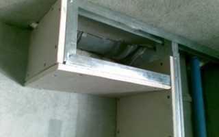 Как сделать монтаж короба из гипсокартона на потолке