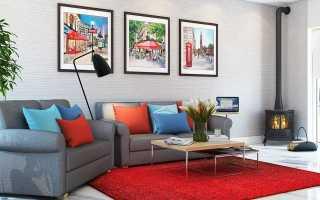 Красный ковер – яркое решение в интерьере