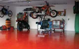 Устройство полимерного пола в гараже
