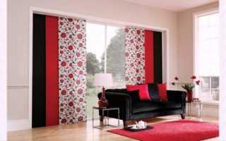 Японские шторы в интерьере, какие материалы и виды лучше выбирать