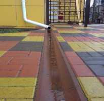 Водосток для тротуарной плитки