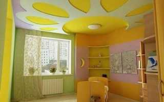 Различные варианты дизайна потолка из гипсокартона в детской комнате