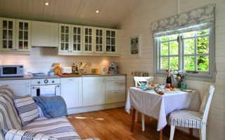 Как оформить интерьер кухни на даче