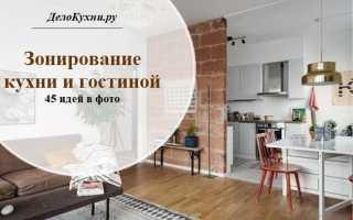 45 идей для зонирования кухни и гостиной