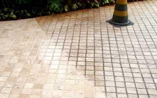 Чем отмыть тротуарную плитку от цемента и прочих пятен