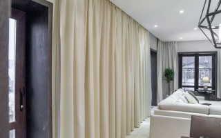 Гардины для штор: советы по выбору под натяжной потолок