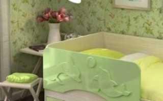 Выбираем детскую кровать с ящиками и бортиком