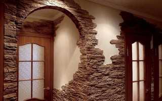 Способы отделки дверного проема искусственным камнем