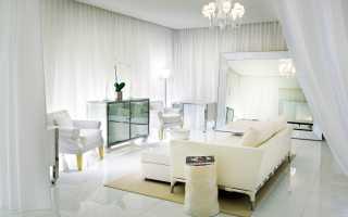 Белые шторы в интерьере квартиры; лучшие идеи дизайна на фото (115 идей)