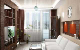 Выбираем красивые шторы для зала с балконом