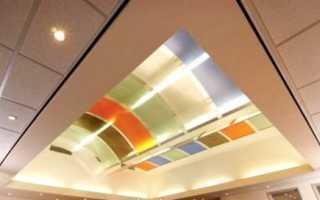Потолок из поликарбоната для рассеивания света