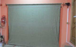 Предназначение штор в гараже на ворота, их преимущества и недостатки, материала полотна, как повесить самостоятельно