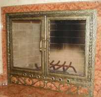 Дверцы для каминов, какой вариант выбрать стеклянный, металлический или чугунный