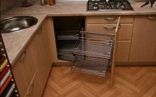Как подобрать угловой шкаф для кухни